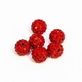shamballa-koralka-červena-10mm