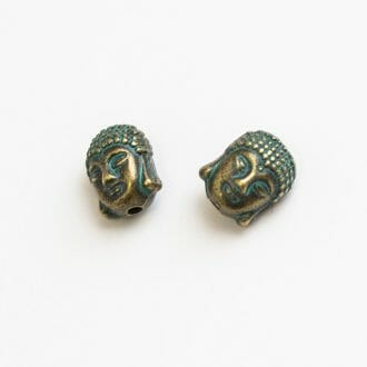 kovova-koralka-hlava-buddha-bronz-patinovana