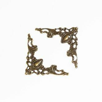 filigran-bronzova-ozdoba-40x40mm