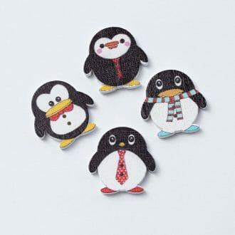 dreveny-gombik-pingvin-24x25mm